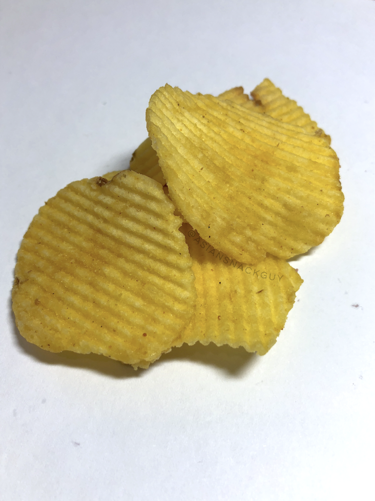 Tasto Crab Curry Flavored Potato Chips Ridge Cut From Thailand