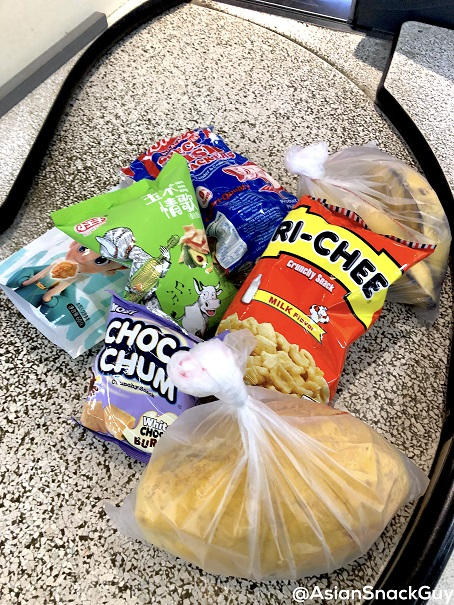 Asian snacks and grocery at check out