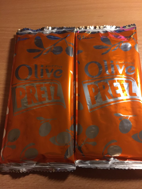 Two Packs of Glico Olive Pretz Cheese