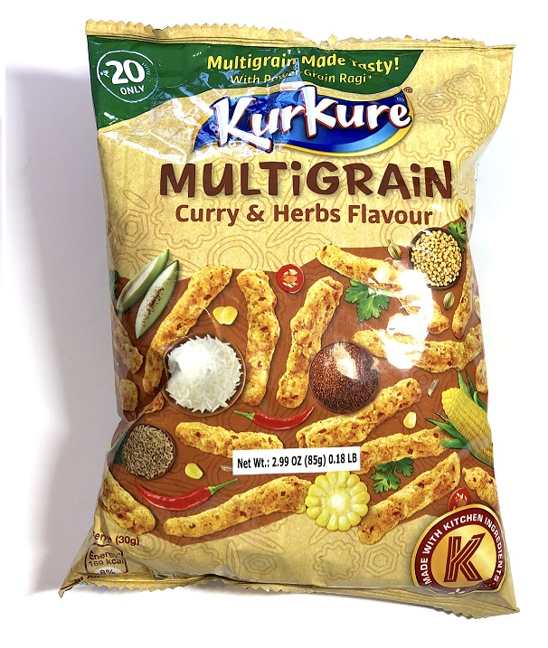 Kurkure Multigrain Namkeen - Curry & Herbs Flavour Indian Chips